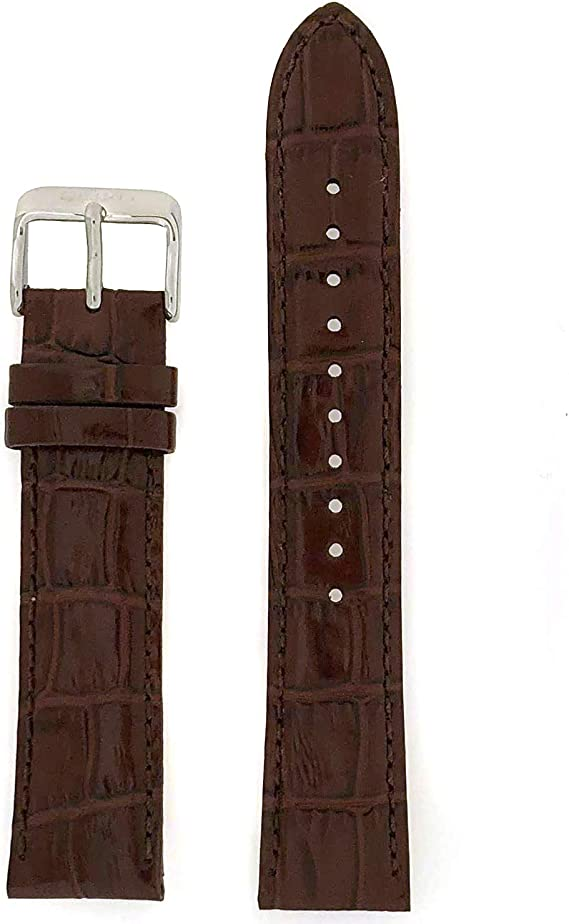 Seiko Genuine Textured Brown Leather Alligator Grain