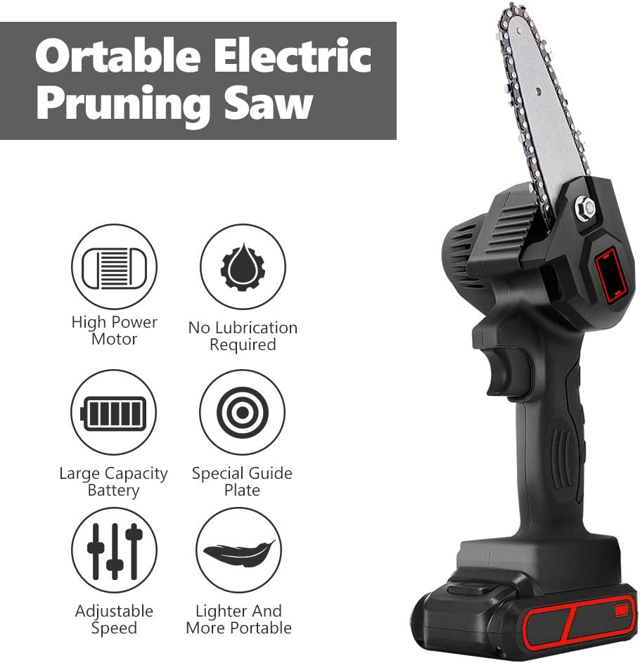 BLACK SAEEN Electric Pruning Saw,Mini Electric Chain Saw ...