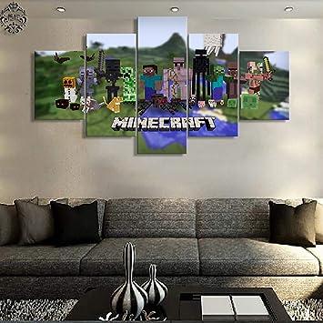 TYUPS 5 Stücke Segeltuch Gedruckt Spiel Poster Minecraft ...