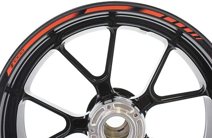 Impressiata Kawasaki Z1000 Motorrad Felgenrandaufkleber Specialgp Orange Komplettset Aufkleber Sticker Auto