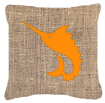 Amazon.com: Tesoros de la Caroline fish-sword pescado Burlap ...