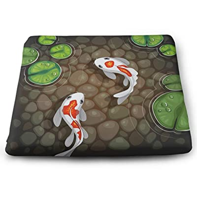 Tinmun Square Cushion, Carps Koi Fish Underwater Pond Large Pouf Floor Pillow Cushion for Home Decor Garden Party: Home & Kitchen