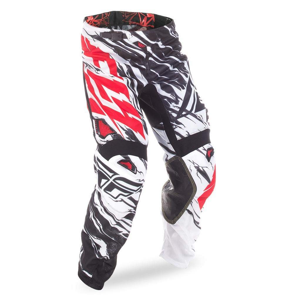 Fly Racing Unisex-Adult Kinetic Mesh Pants Black/White/Red Size 26 by Fly Racing