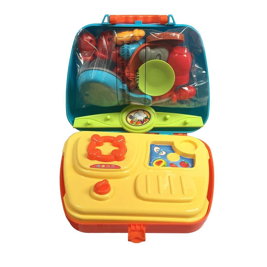Rollenspiel Küche Spielzeug Kinder Kochen Lebensmittel Spielset für ...