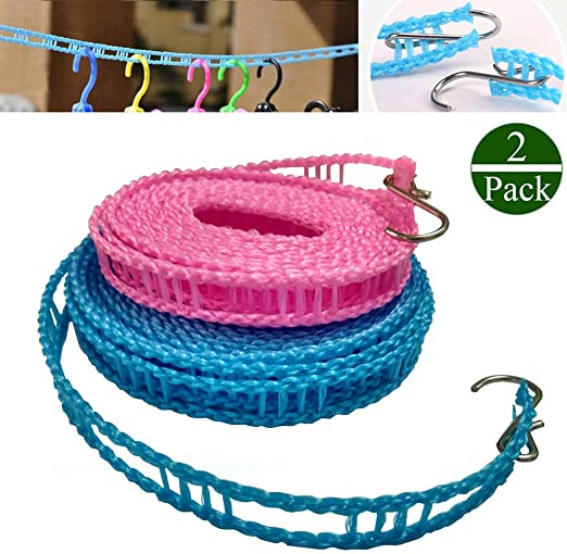 1 PCS Windproof Clothesline Outdoor Travel Retractable Rope Washing line 5 m