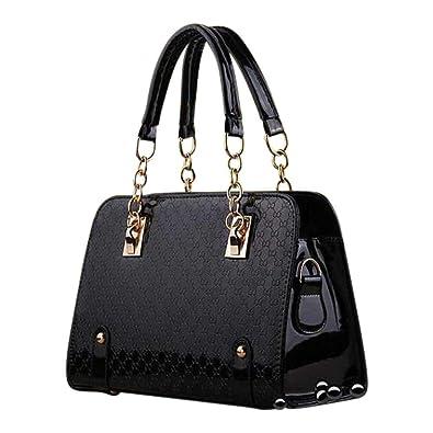 Ladies Patent Purse - PU Leather Unique Handbag For Women - Crossbody  Messenger Bag- Shoulder
