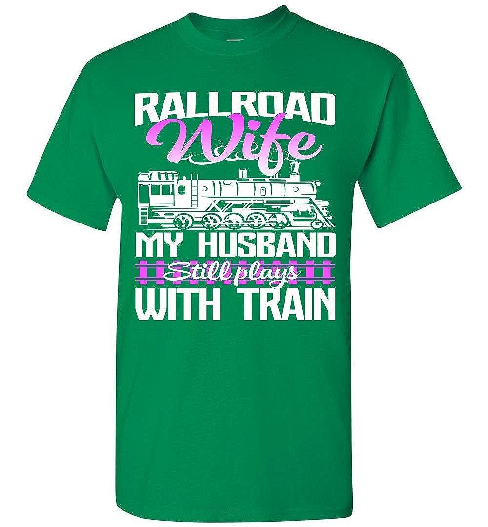 shopdoz Railroad Wife Funny railroading T-Shirt