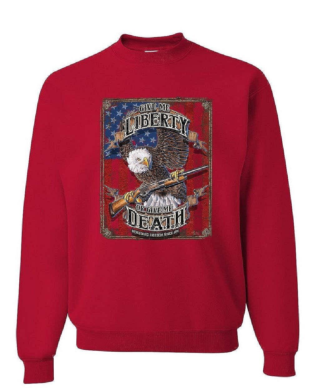 Give Me Liberty Give Me Death Sweatshirt Eagle Defend Freedom 2A Sweater