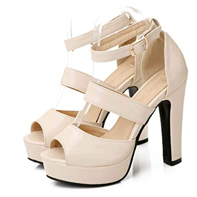 e588f19bbacf Fashion-Sex Women Sandals Shoes Woman Thick High Heels Peep Toe Gladiator  Cut Outs Summer