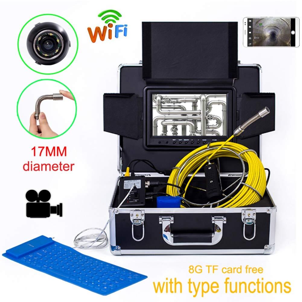 【70%OFF】 9インチ WIFI17MM 産業パイプライン下水道検出カメラ IP68 防水排水検出 1000 TVL カメラ 1000 B07Q2NK5GV DVR カメラ ビデオ (50M) B07Q2NK5GV, 名刺印刷年賀状なら-印刷の王様-:6fee3331 --- arianechie.dominiotemporario.com