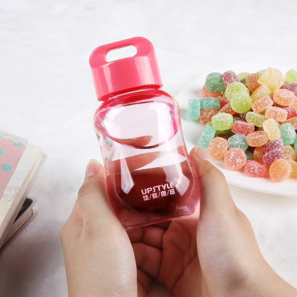 YIY Mini Botella de Agua de plástico para Deportes de Boca Ancha para Viaje, Taza de Leche y café, Taza de té para niños, Correr, Gimnasio, Yoga, ...