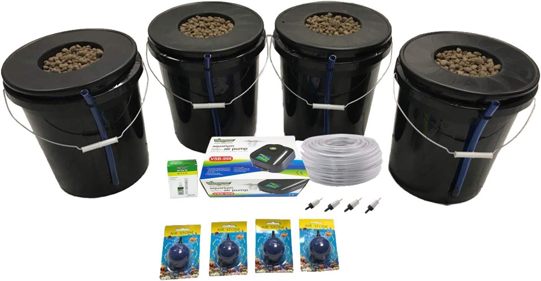 Viagrow VDIY Deep Water Hydroponic 4 Plant System, Black