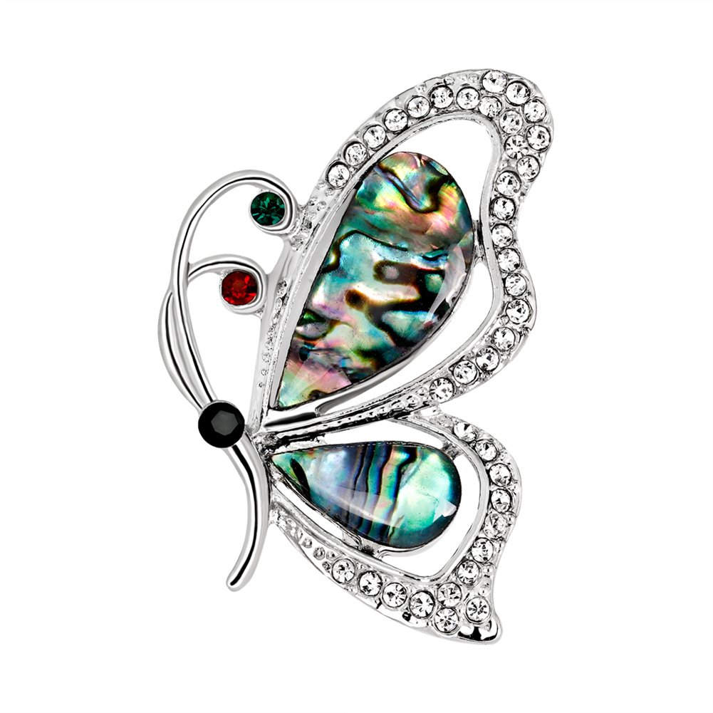 Monbedos 1PCS Personality Butterfly Brooch Wedding Brooch Dress Brooch Shawl Clip Brooches for Women size 4.83.6cm