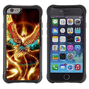 Jordan Colourful Shop@ Golden Shiny Phoenix Mystical Creature Wings Rugged hybrid Protection Impact Case Cover For iPhone 6 Plus CASE Cover ,iphone 6 5.5 case,iPhone 6 Plus cover ,Cases for iPhone 6 Plus 5.5