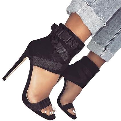 61f21aeb1850e Amazon.com: YJYdada Fashion Women Sandals Summer Shoes Thick Buckle ...