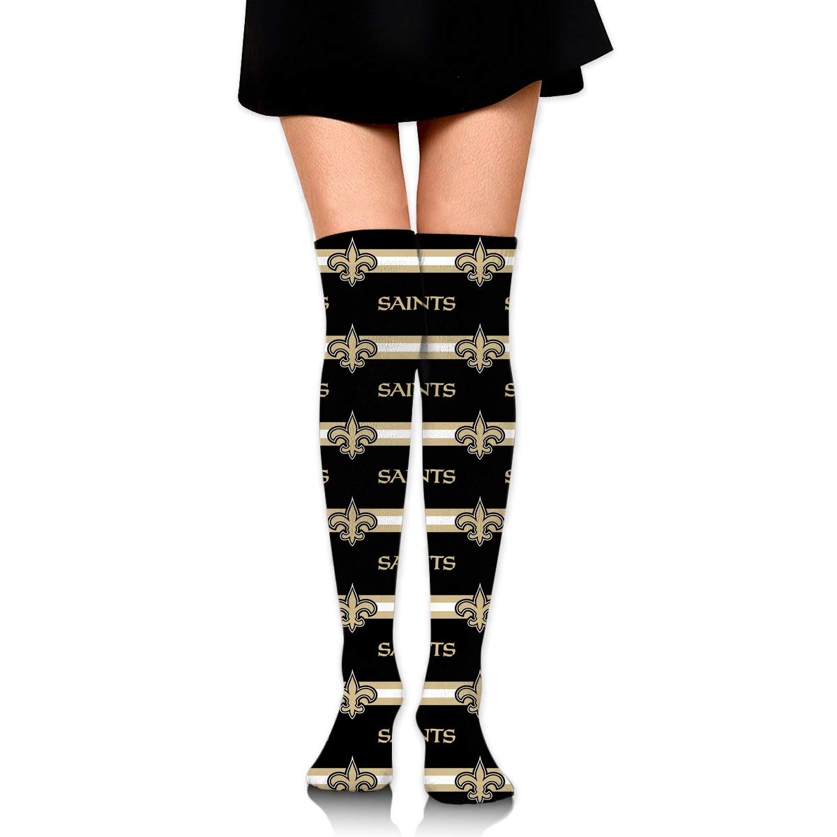 Sorcerer Custom Girls Over Knee High Boot Stockings Leg Warmers New Orleans Saints Women's Polyester Thigh High Socks Gift by Sorcerer