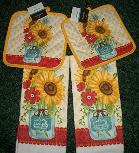 #42 Cute Sunflower Dish Towels with Matching Pot - Dolce Gabbana Pictures