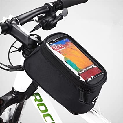 Bicycle Bike Cycling Top Front Tube Frame Cell Mobile Phone Double Bag Holder