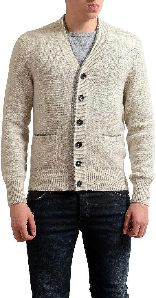 Tom Ford Men's 100% Cashmere Beige Cardigan Sweater US M IT