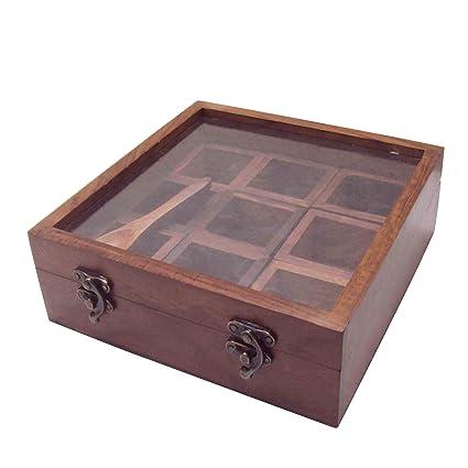 EtsiBitsi Sheesham Wooden Masala Box KT_002