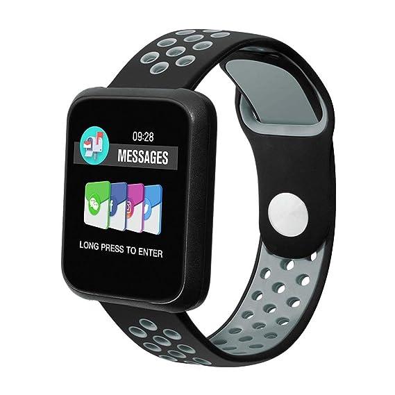 COLMI Sport3 Smart Watch para Hombres Presión Arterial IP68 Impermeable Fitness Tracker Reloj Smartwatch para Dispositivos iOS Android portátiles - Azul: ...