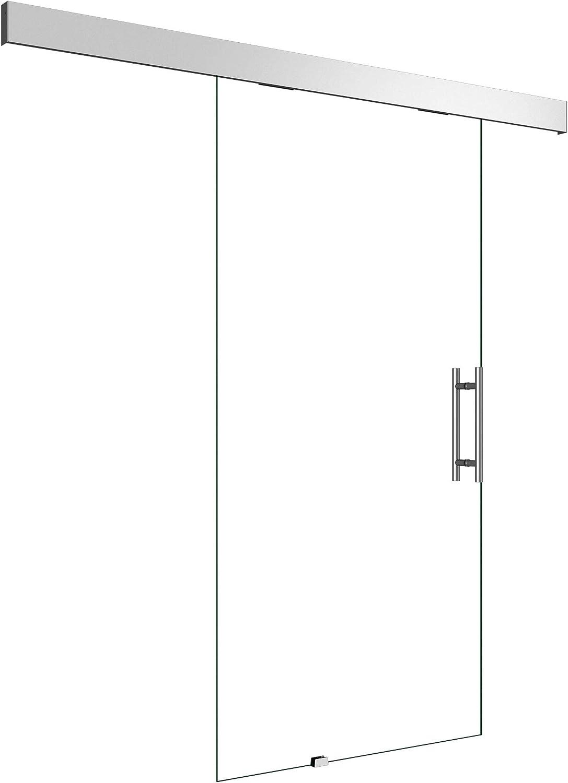 Sogood 102,5x205 cm Glasschiebet/ür Amalfi TS19-1025 KMG ESG Sicherheitsglas klarglas Schiebet/ür Glast/ür Zimmert/ür B/ürot/ür