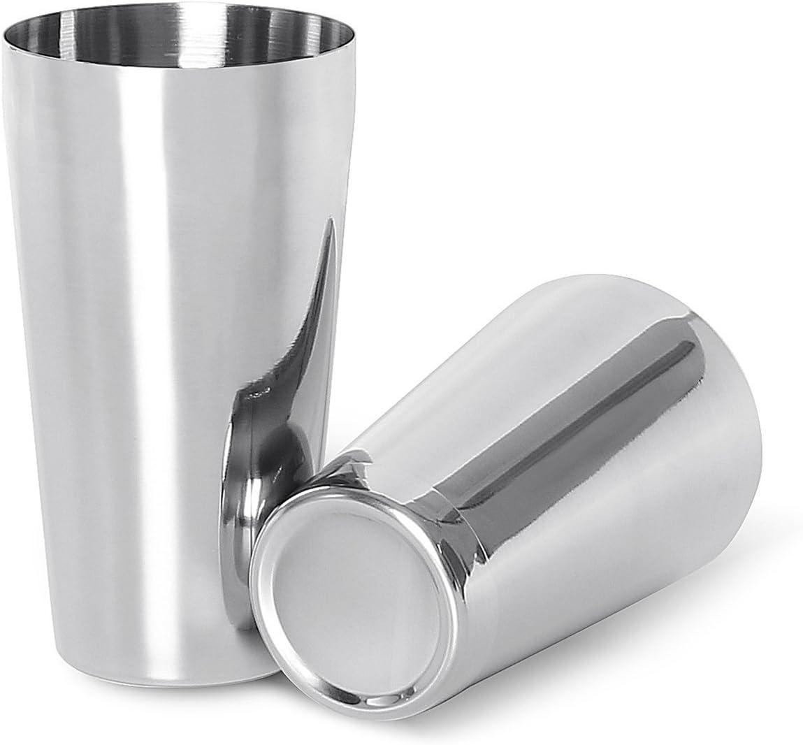 Conjunto de Coctelería Boston de LANZON, Cocteleras Boston 2 Piezas, 500ml(18oz) & 750ml(26oz) Shaker Tins