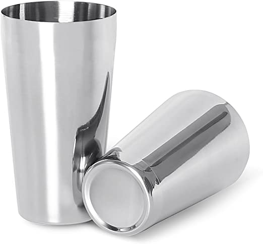 304 Stainless Boston Cocktail Shaker Bartender Tool Tin on Tin Mixing Cans