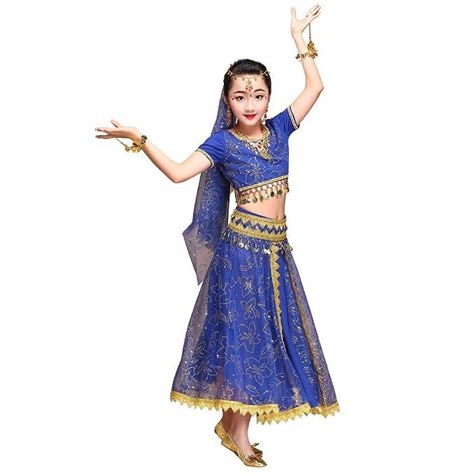 Byjia Disfraz de Danza del Vientre para niñas, Traje de Danza ...