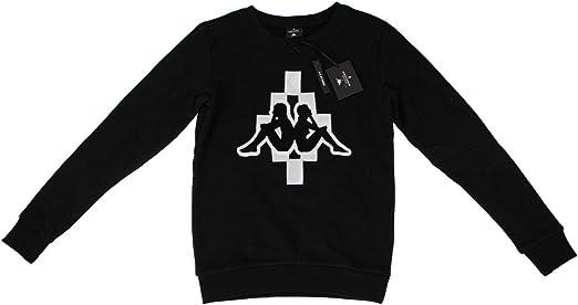 MARCELO BURLON Mens Kappa Crew Neck Sweatshirt S Black
