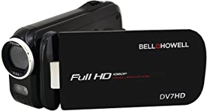 Bell+Howell Slice2 DV7HD-BK Full 1080p HD Camcorder with Touchscreen and 60x Zoom with 3-Inch LCD (Black)