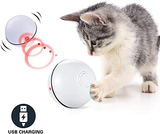 CHOKMAX Juguetes para Gatos Interactivo Automático Pelota Rodante ...