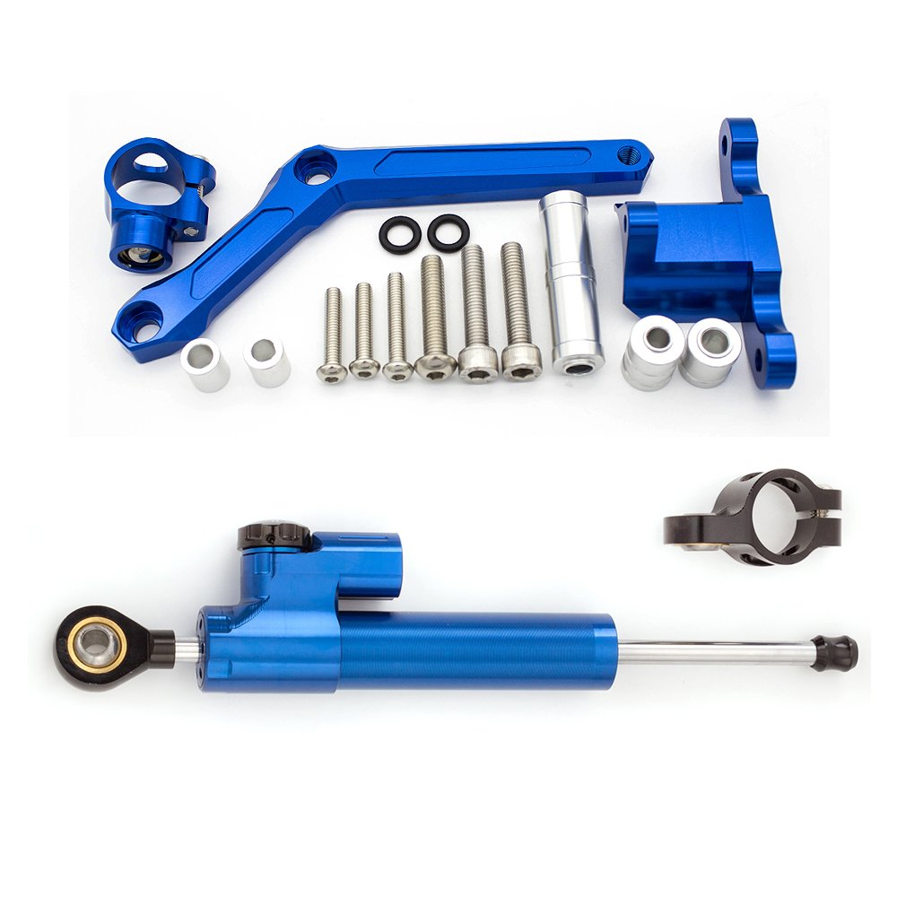 FXCNC Racing Motorcycle Adjustable Steeering Damper with Bracket Support Kits fit for Benelli BN600 BJ600 TNT600