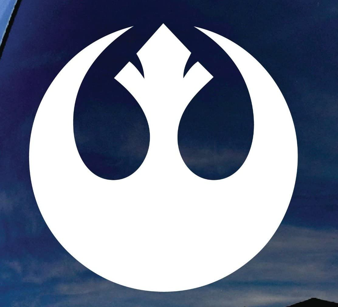 Vinyl Decal Sticker REBEL ALLIANCE 4.5-Inch Vinyl Color: White