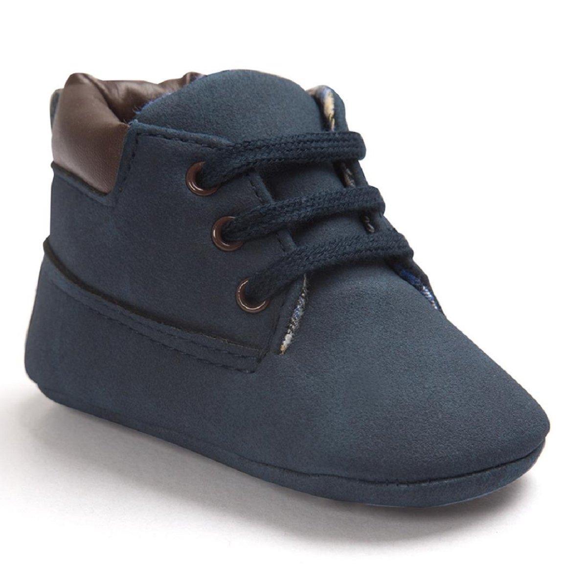 OverDose Unisex-Baby Weiche Warme Sohle Leder/Baumwolle Schuhe Infant Jungen-Mädchen-Kleinkind Schuhe 0-6 Monate 6-12 Monate 12-18 Monate 233