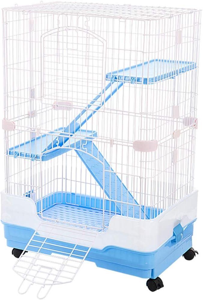 Jaulas Conejo Villa de orina a Prueba de Purga para Mascotas Nido de Conejo de Ardilla doméstica de Interior Conejo de reproducción de defecación automática