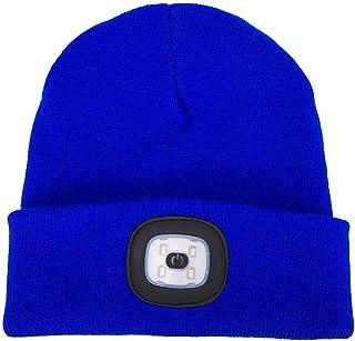 Cappello Berretto a LED Cappello Berretto Illuminato a LED Cappello Berretto Unisex per Mani libere (Versione Batteria)