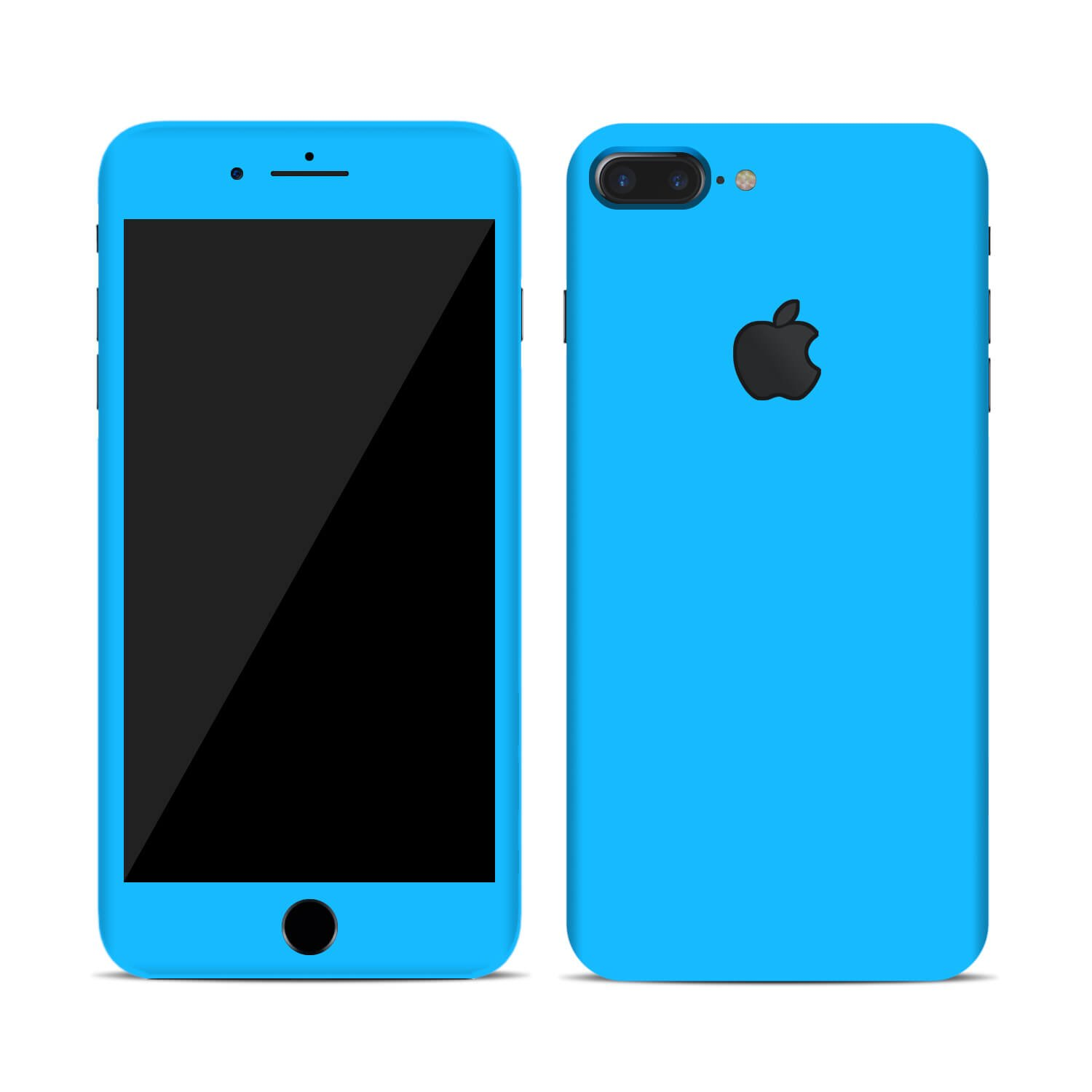 iphone 7, brushed light blue metal plus Full Body Wrap SmartSkins Textured skin sticker for iPhone 7 /& 7