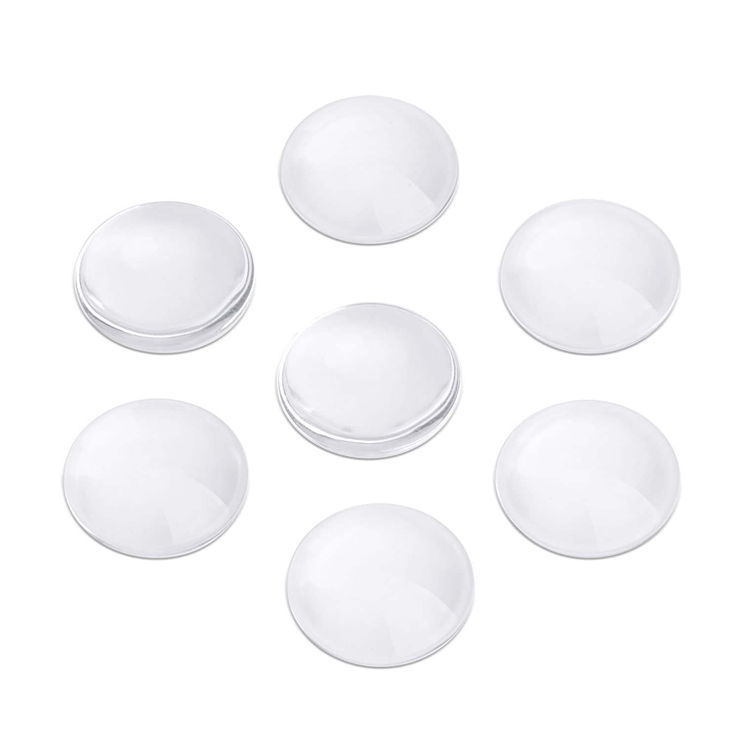 """25mm 1 inch 1/"""" Clear Round Glass Dome Cabochon fit Cameo Cabochon Base 100 M046"""