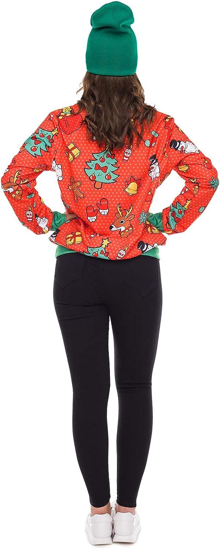 URVIP Unisex Ugly Christmas Pullover Sweatshirts 3D Digital Printed Graphic Shirts