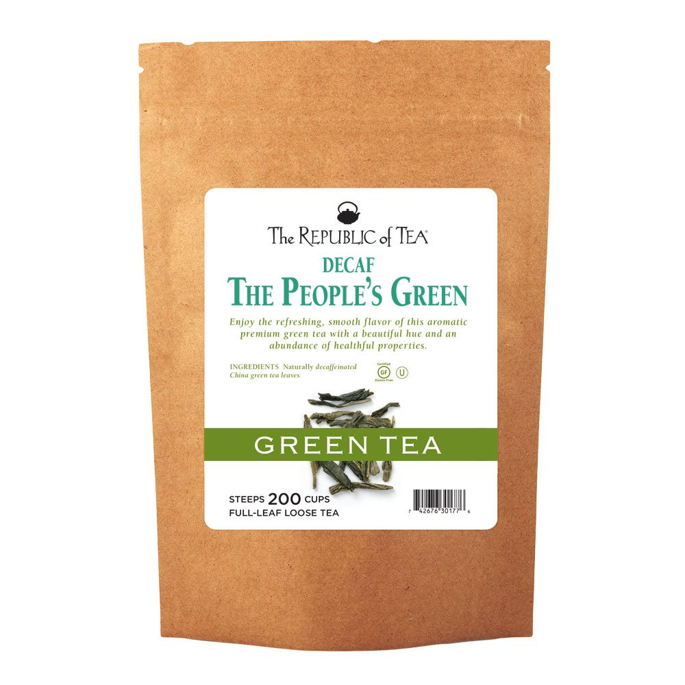 The Republic Of Tea Decaf The People's Green Full-Leaf Tea, 1 Pound / 200 Cups