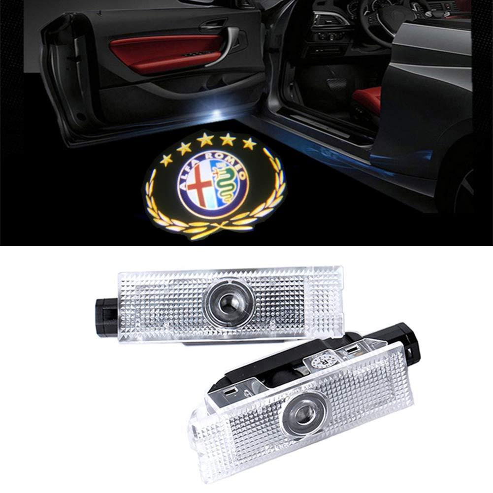 QJZoncuji Car LED proiettore della lampada della porta Ghost Shadow Benvenuto Luce Kit