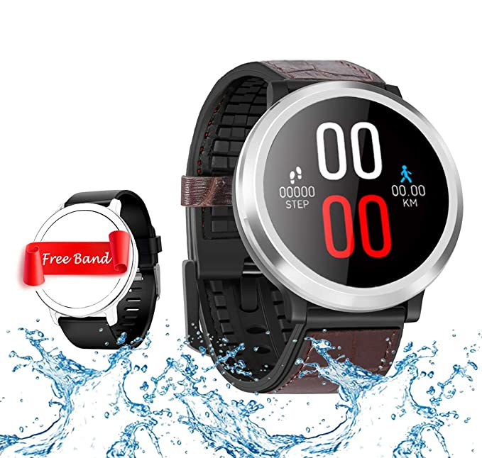 Smart Watch, Fitness Tracker with Heart Rate & Blood Pressure & Sleep Monitor for Android and iOS, Waterproof Activity Tracker with Color Screen, ...