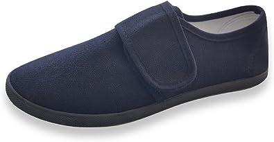 Junior Infant Boys Girls Kids Canvas Gusset School Casual Plimsolls Shoes Black