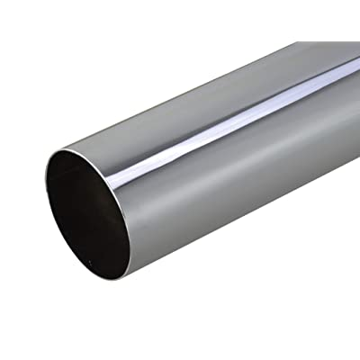 chrome exhaust pipe 5 dia 24 length curved