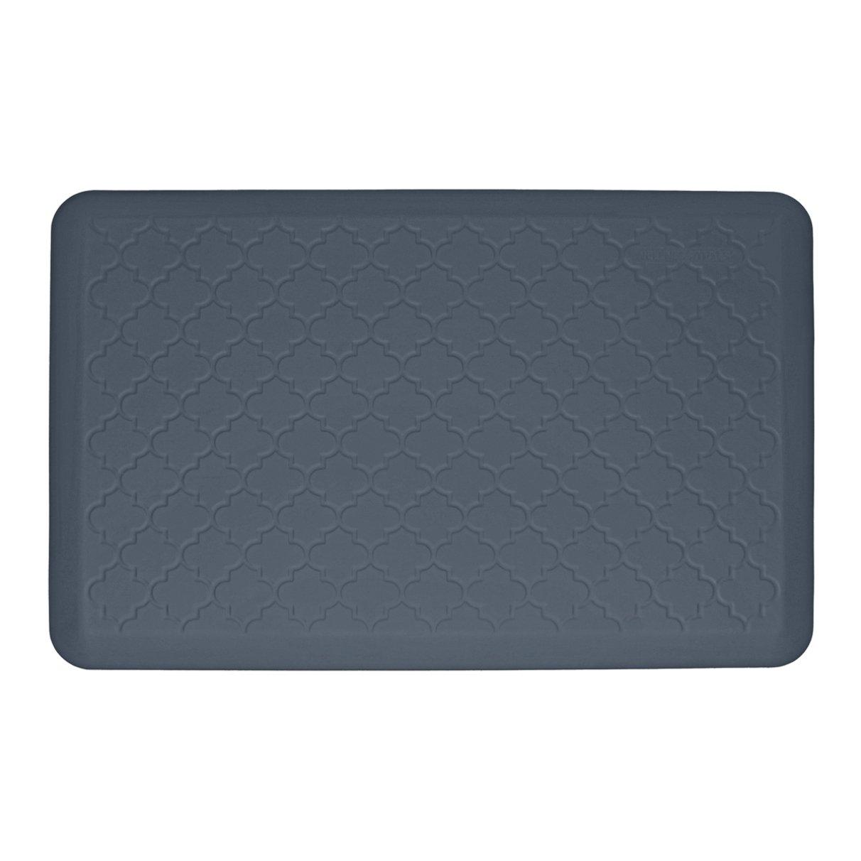 WellnessMats Anti-Fatigue Trellis Motif Kitchen Mat, 36 Inch by 24 Inch, Grey by WellnessMats (Image #1)