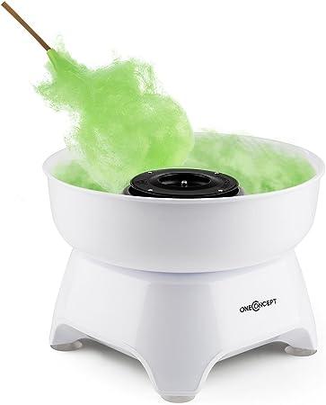 Oneconcept Candycloud Máquina para Hacer algodón de azúcar (500W Potencia, contenedor Desmontable, diámetro: 29 cm, fácil manejo y Limpieza) - Blanca: Amazon.es: Hogar