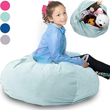 "077777298d Large Stuffed Animal Storage Bean Bag ❤ ""Soft  n Snuggly"" Corduroy Fabric"