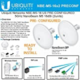 Ubiquiti NBE-M5-16 X 2 units 5GHz NanoBeam M5 16dBi Kit Complete Pre-Configured