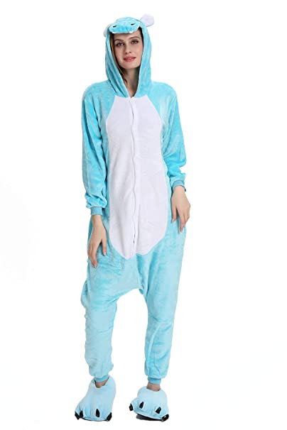 Tuopuda Pijamas Unicornio Unisexo Adulto Traje Disfraz Pijamas de Animales Enteros Cosplay Animales de Vestuario Ropa